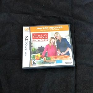 Nintendo DS lite cooking game